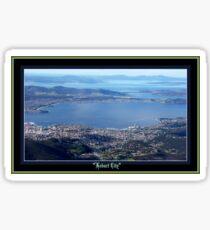 *HOBART CITY - SOUTHERN TASMANIA - MT WELLINGTON* Sticker