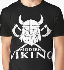 Modern Viking Logo Graphic T-Shirt