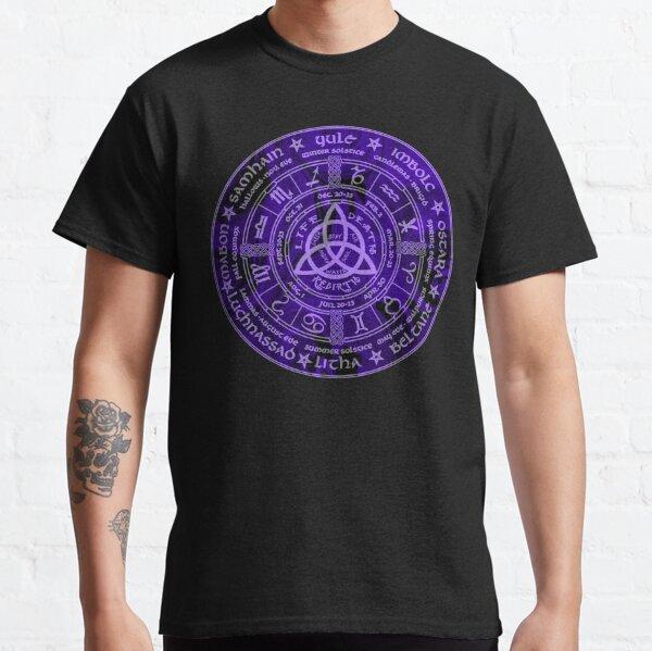 Celtic Pagan Year Wheel Calendar Classic T-Shirt