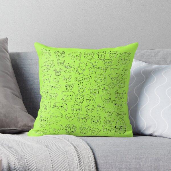 Lemon Lime- Griffons (no text) Throw Pillow