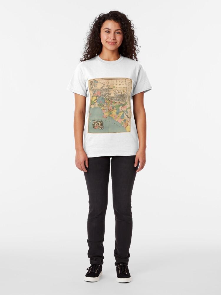 Alternative Ansicht von Vintage Karte von Los Angeles County CA (1888) Classic T-Shirt