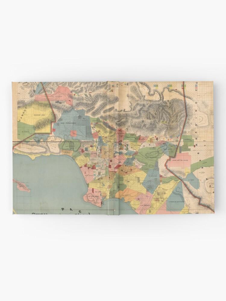 Alternative Ansicht von Vintage Karte von Los Angeles County CA (1888) Notizbuch