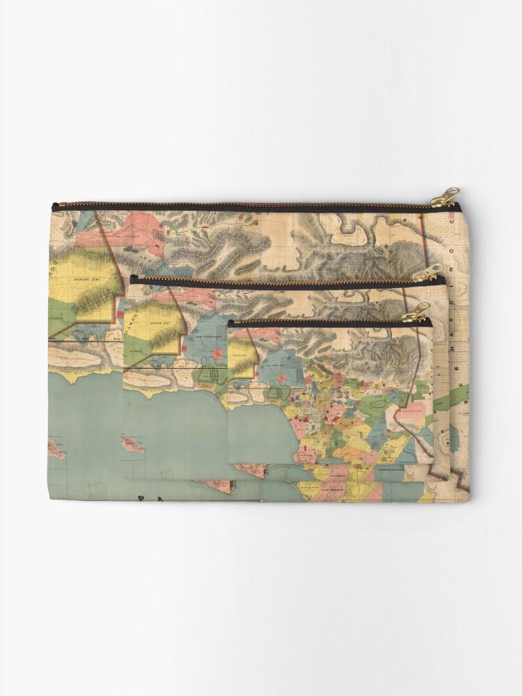 Alternative Ansicht von Vintage Karte von Los Angeles County CA (1888) Täschchen