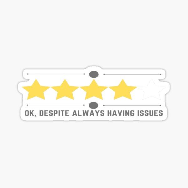 Five Star Rating Sticker