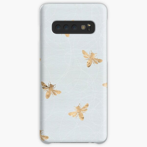 Rose Gold Bees Pattern Samsung Galaxy Snap Case