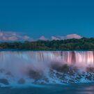 Blue hour at Niagara Falls by Erik Schlogl