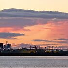 Dawn over Long Island Point, Hastings, Victoria. by Frances Henke
