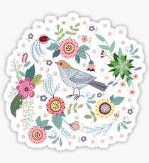 Beautiful bird in flowers Sticker