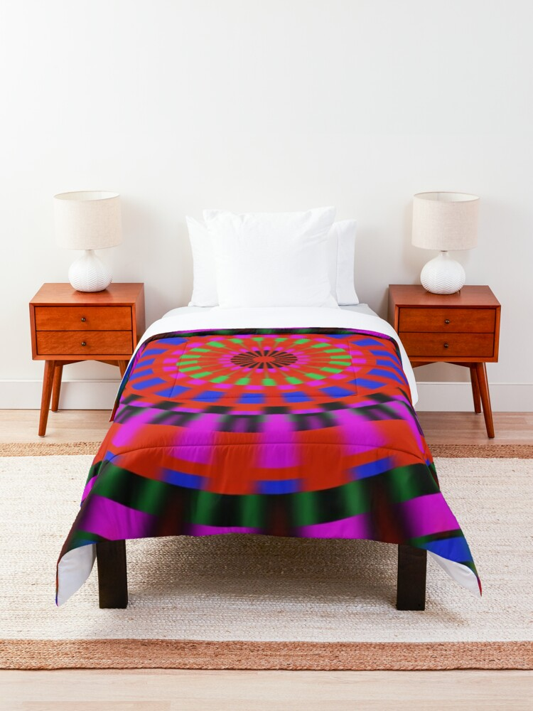 Alternate view of Bright Colors Spinning Comforter