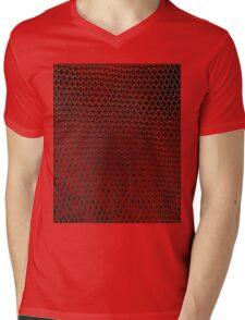 Net Art - 1 Layer - Red Hot Mens V-Neck T-Shirt