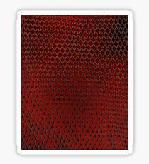 Net Art - 1 Layer - Red Hot Sticker