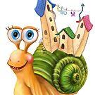 Funny snail by Alena Lazareva
