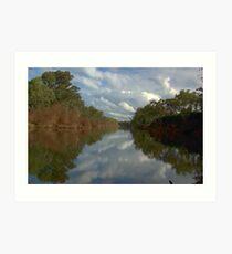 Tranquil river scene Art Print