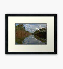 Tranquil river scene Framed Print