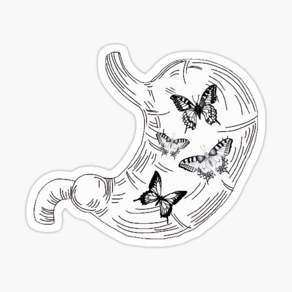 Butterflies in your stomach Sticker