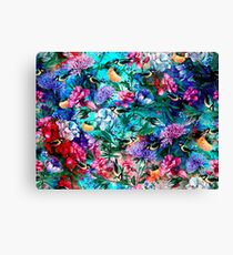 Flowers & Birds Canvas Print
