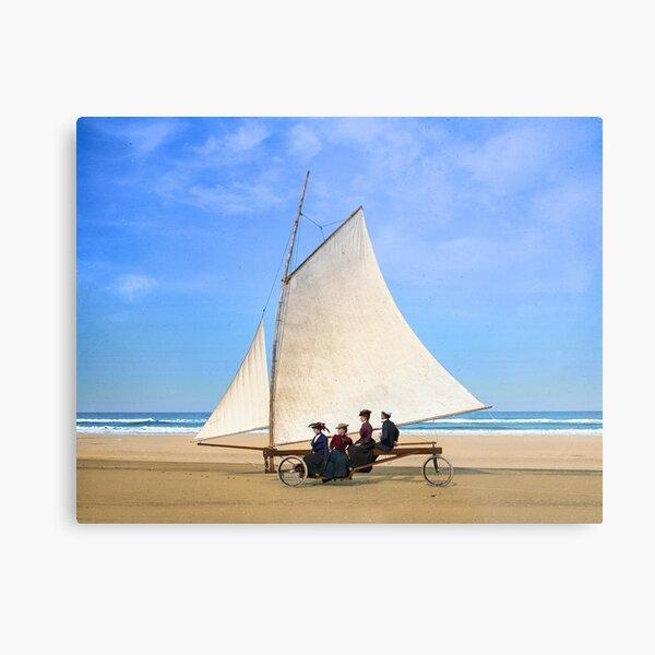 Sailing on the beach, Ormond, Florida, 1900s. Metal Print