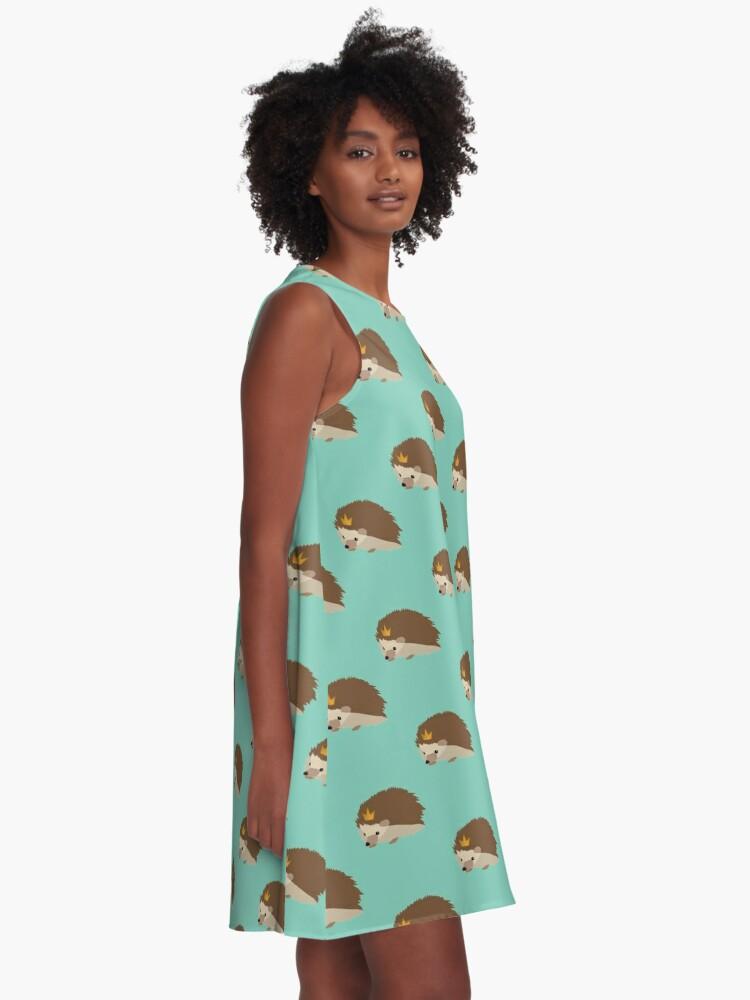 Alternative Ansicht von Igel Krone A-Linien Kleid