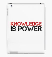 Knowledge Is Power Cool Quote Political Inspirational iPad Case/Skin