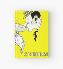 Jazz age deco Art Champagne Cheers Hardcover Journal