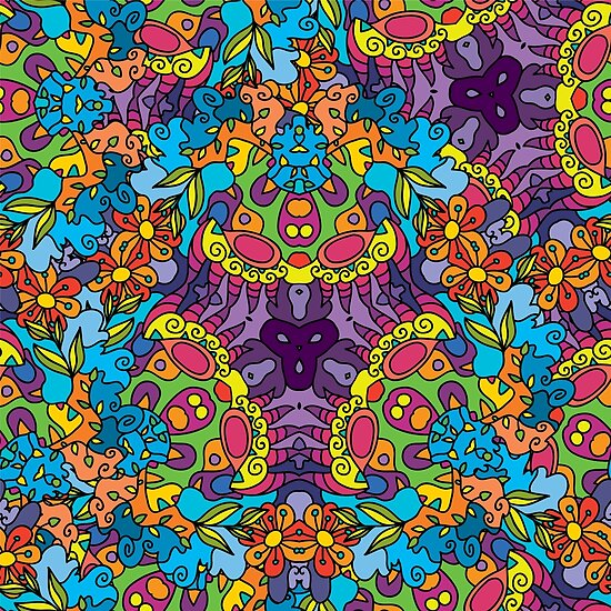 psychedelic lsd trip ornament 0002 posters by andrei verner redbubble