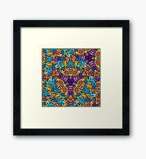 Psychedelic LSD Trip Ornament 0002 Framed Print