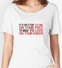 Cool Political Quote Freedom Liberty Free Speech Emiliano Zapata Women's Relaxed Fit T-Shirt
