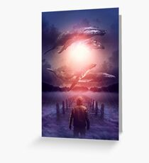The Space Between Dreams and Reality Greeting Card