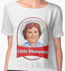 Little Diabeetus (little Debbie) 'lil debbie logo parody Chiffon Top