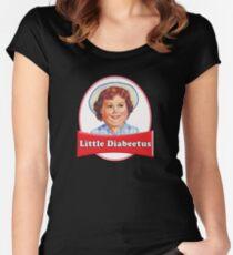 Little Diabeetus (little Debbie) 'lil debbie logo parody Women's Fitted Scoop T-Shirt