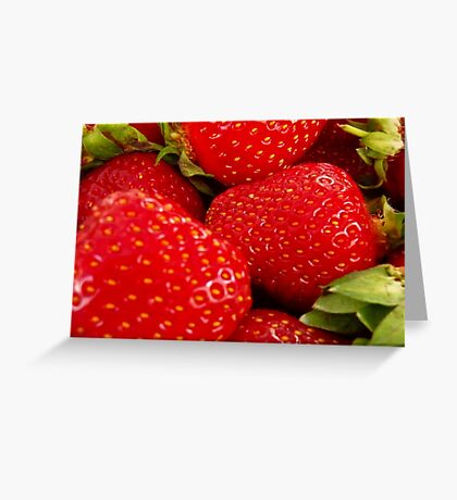Strawberries! Bolzano/Bozen, Italy Greeting Card