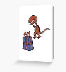 happy dinosaur Greeting Card