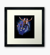 THE DOCTOR'S TIMEY-WIMEY ADVENTURE  Framed Print