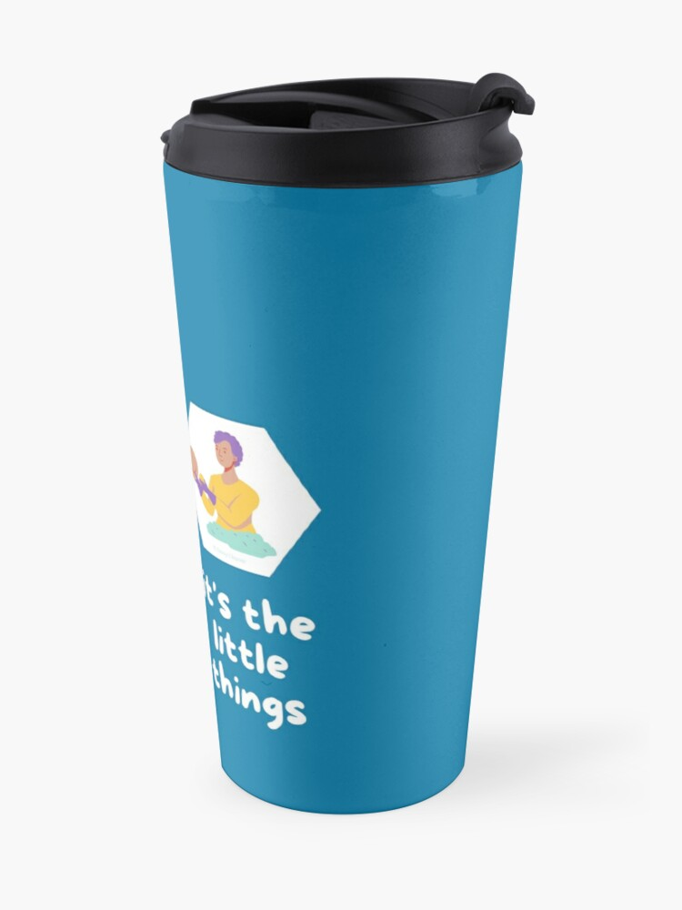 Alternate view of It's the Little Things Cleaning Lady Housekeeping Vacuuming Travel Mug