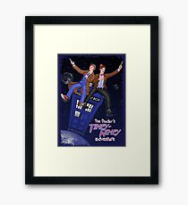 THE DOCTOR'S TIMEY-WIMEY ADVENTURE  (full cover) Framed Print