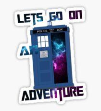 TARDIS-Let's go on an adventure #2 Sticker