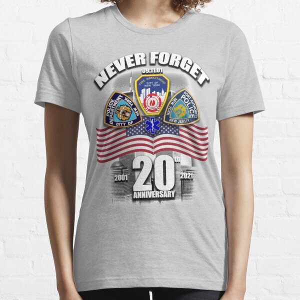 September 11th 20th Anniversary 9/11 FDNY NYPD Essential T-Shirt