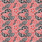 Graphic pattern and abstraction flowers by Tanor