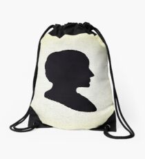 Ada Lovelace Silhouette  Drawstring Bag