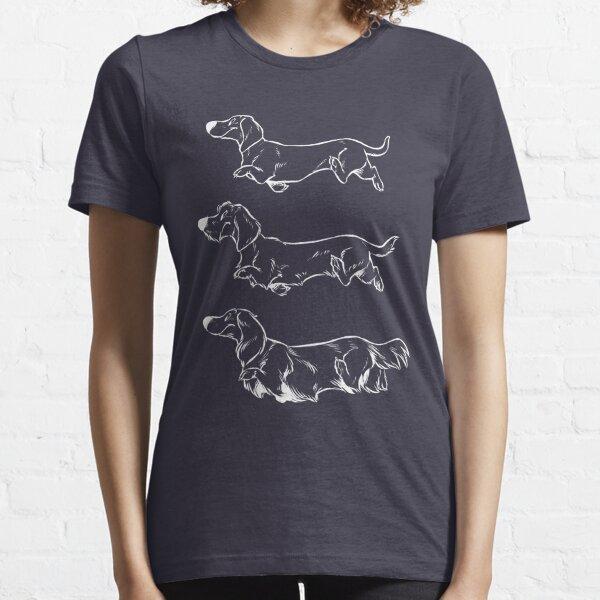 Teckels (white) Essential T-Shirt
