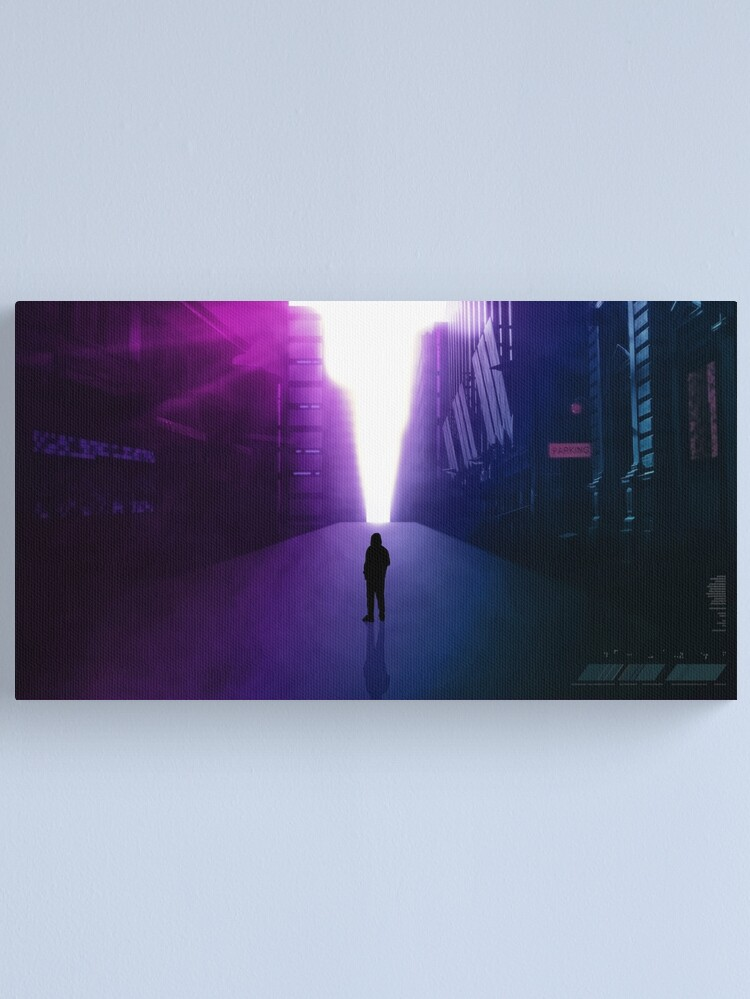 Alternate view of City road to a brighter future Canvas Print