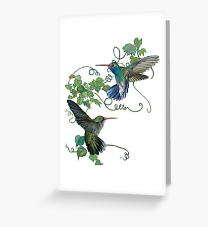 Hummingbirds Flight Greeting Card