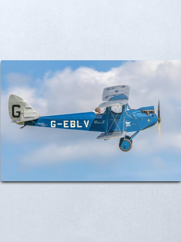 Alternate view of De Havilland DH60 Cirrus Moth G-EBLV Metal Print