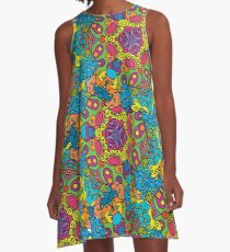 Psychedelic LSD Trip Ornament 0006 A-Line Dress