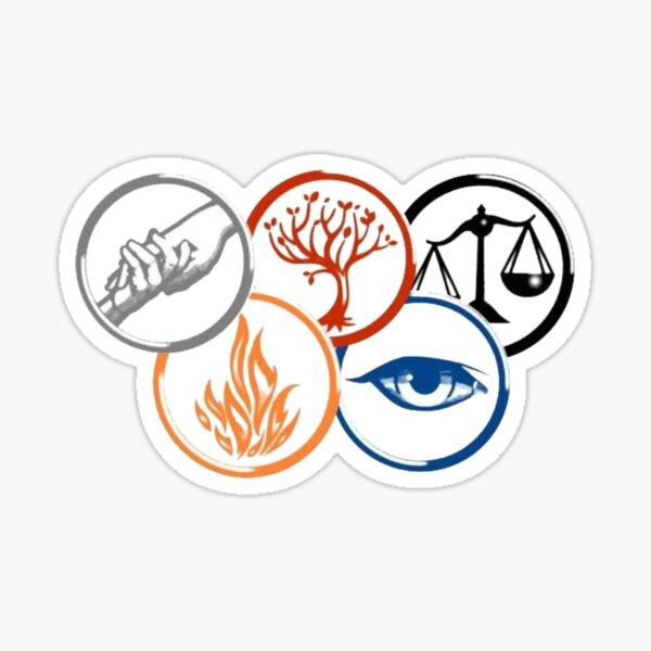 divergent faction symbols  Sticker