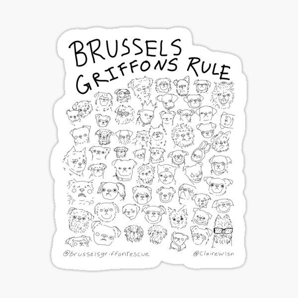 Brussels Griffons Rule Sticker
