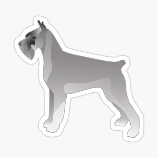 Giant Schnauzer Basic Breed Silhouette - Grey Sticker