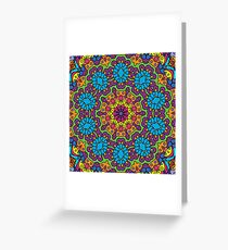 Psychedelic LSD Trip Ornament 0008 Greeting Card