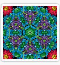 Psychedelic LSD Trip Ornament 0010 Sticker