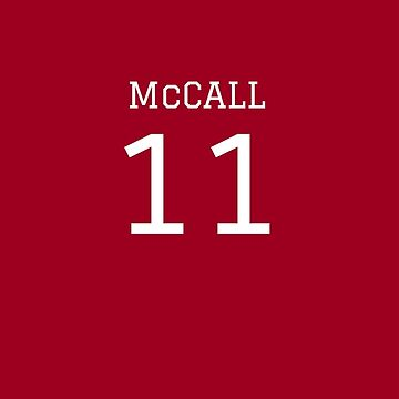 McCall Jersey Number by angelacole
